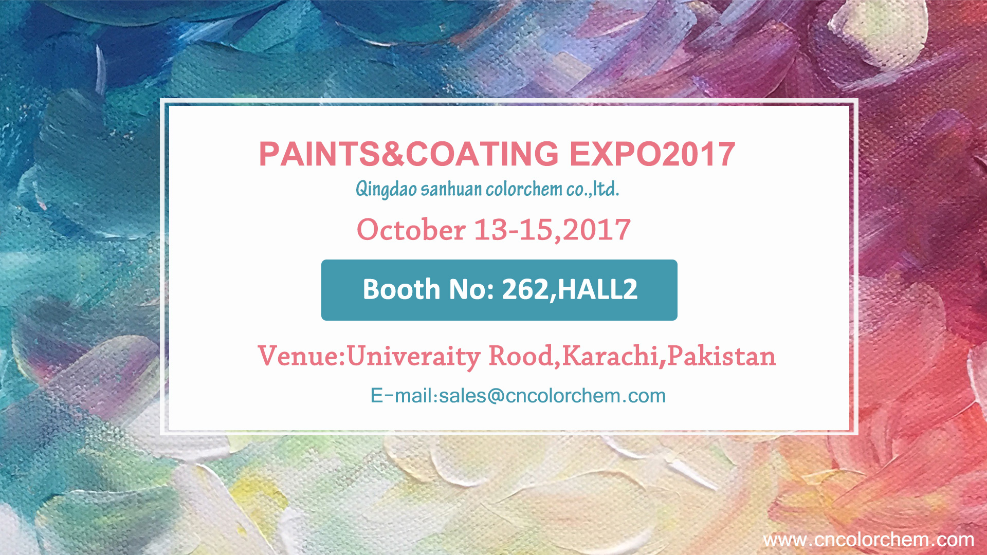PAINTS&COATING EXPO 2017